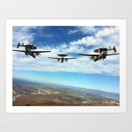 Hawkeyes Fly Over Art Print