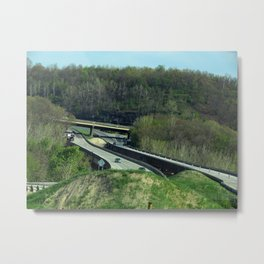 The Vastness of the Highway Metal Print