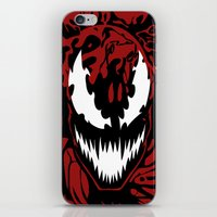 carnage iPhone & iPod Skins featuring carnage by Rebecca McGoran
