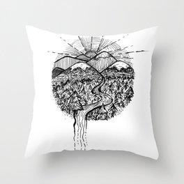 Utopian Hills Throw Pillow