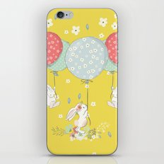 flying bunny iPhone Skin