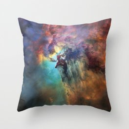 Lagoon Nebula 2 Throw Pillow