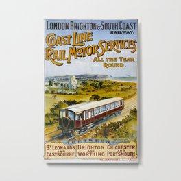 Vintage poster - Brighton Railway Metal Print