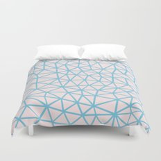 Seg Blue Pink Duvet Cover
