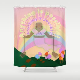 Anything is possible - Perhaps It's You Podcast Fan Art Shower Curtain