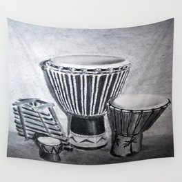 A drum family Wall Tapestry