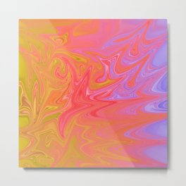 rainbow ripples of life Metal Print