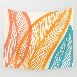 Tropical Flora - Retro Palette Wall Tapestry