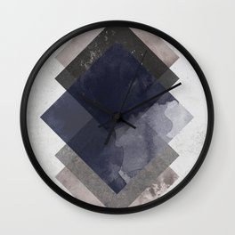 Geometric Watercolor Graphic Wall Clock