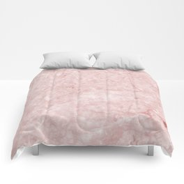 Pretty in Pink Marble Comforters