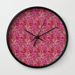 Fractal Abstract Floral Garden Wall Clock