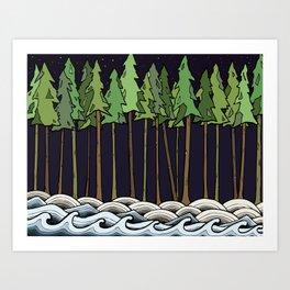 Natural Night Art Print