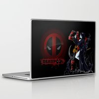 thanos Laptop & iPad Skins featuring Deadpool by Dee9922