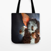 gizmo Tote Bags featuring Gizmo  by Erika VBL