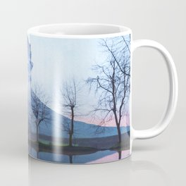 Mount Fuji Eruption-Mt. Fuji Japan-Abstract Japanese Nature Collage Coffee Mug