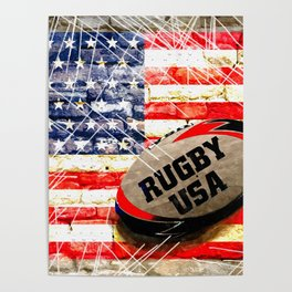American Rugby Poster