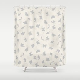 flying butterflies in pastel colors Shower Curtain