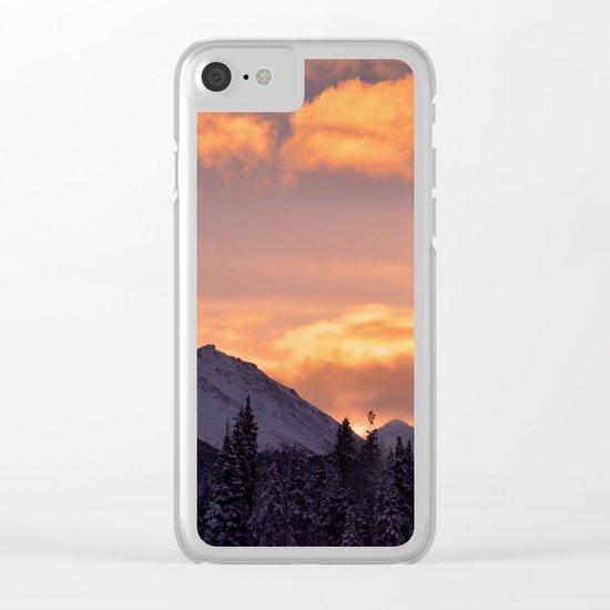Flat Top Sunrise Clear iPhone Case