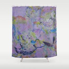Floweres in Violet(1) 2015 Shower Curtain