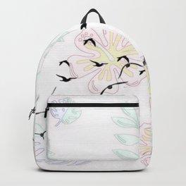 Trendy Birds pastel floral Backpack