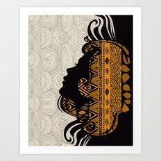 Tribal Dreams by Pom Graphic Design & Viviana Gonzalez Art Print