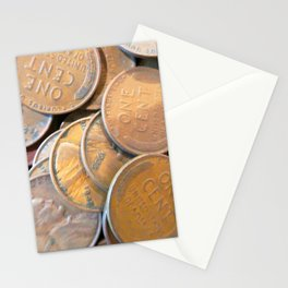 Watercolor Coins, Lincoln Wheat Pennies, 1935 01 Stationery Cards
