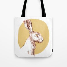 Yellow Hare Tote Bag