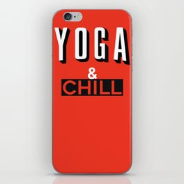 Yoga & Chill iPhone Skin