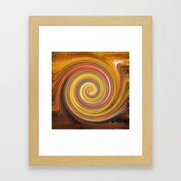 Swirls of digital paint Framed Art Print