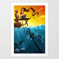 Sea Monkeys Art Print