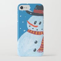 snowman iPhone & iPod Cases featuring Snowman by gretzky