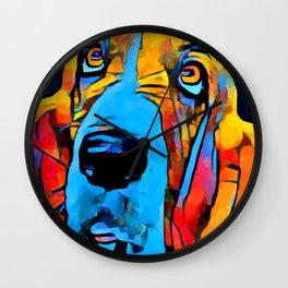 Basset Hound Wall Clock