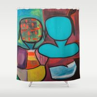 mirror Shower Curtains featuring Mirror by MyColorsByCaroStore
