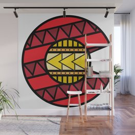 Colorado Tribal Flag: Red and Yellow Wall Mural