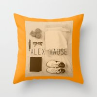 alex vause Throw Pillows featuring If I Were Alex Vause (2) by Zharaoh