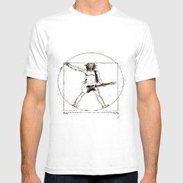 Guitar Man and Da Vinci T-shirt
