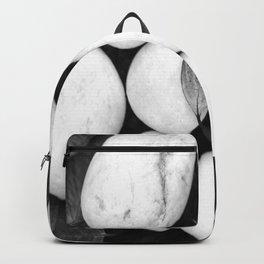 Zen White Stones On A Black Background #decor #society6 #buyart Backpack