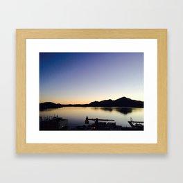 channel view Framed Art Print