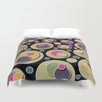 dots Duvet Covers featuring Dots by Shelly Bremmer
