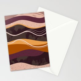 Abstract waves hand drawn illustration pattern Stationery Cards