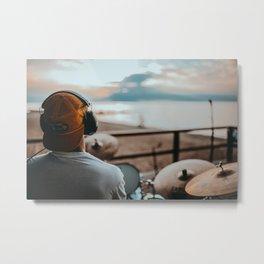 Drummer Metal Print