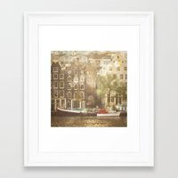amsterdam Framed Art Prints featuring Amsterdam by Cassia Beck
