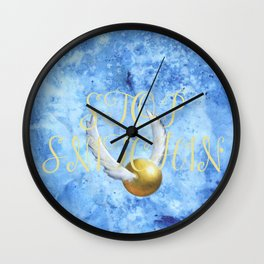 """Stop Golden Snitchin'"" Print Crimson/Gold 2/2 Wall Clock"