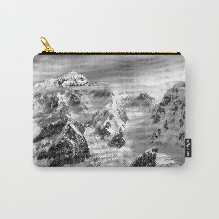 Denali Massif from the Air - Denali & Foraker Carry-All Pouch