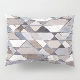 Triangle Pattern no.22 grays Pillow Sham