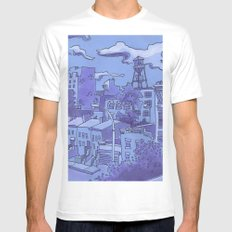 Brooklyn View Mens Fitted Tee White MEDIUM