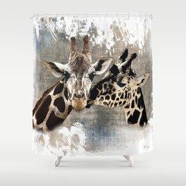 Snuggle Bug Giraffes Shower Curtain