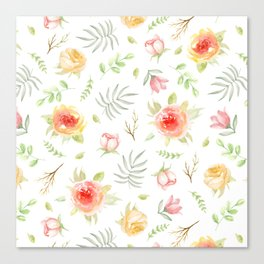 Vintage pattern. Roses Canvas Print