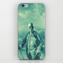 Lord Bonehead VINTAGE GREEN / Skeleton portrait iPhone Skin