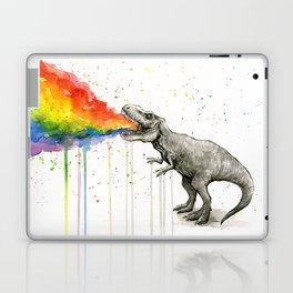 T-Rex Dinosaur Vomits Rainbow Laptop & iPad Skin